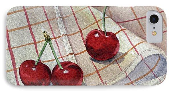 Cherry Talk By Irina Sztukowski IPhone Case by Irina Sztukowski