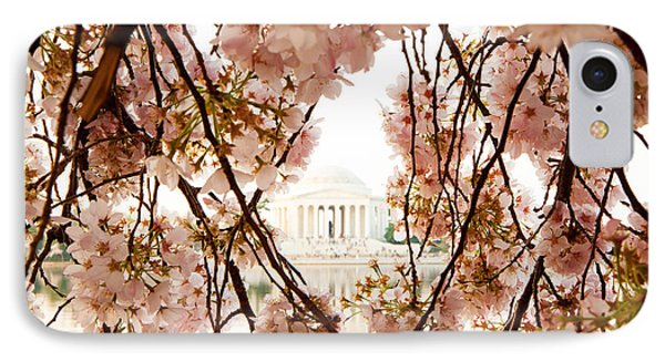 Cherry Blossom Flowers In Washington Dc IPhone Case