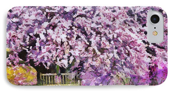 IPhone Case featuring the painting Cherry Blossom by Georgi Dimitrov