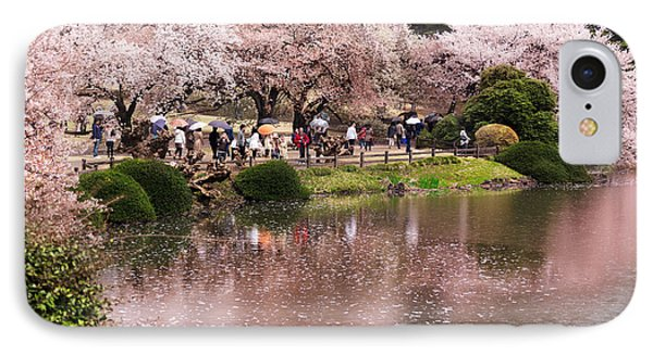 Cherry Blossom In Park In Tokyo IPhone Case by Oleksiy Maksymenko