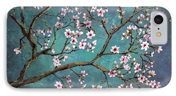 IPhone Case featuring the painting Cherry Blossom by Nancy Bradley