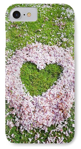Cherry Blossom Shaped As A Heart IPhone Case by Ashley Cooper