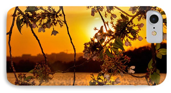 IPhone Case featuring the photograph Cherry Blossom Sunset by Mitchell R Grosky