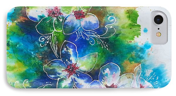 IPhone Case featuring the painting Cherry Blossom Tree by Christy  Freeman