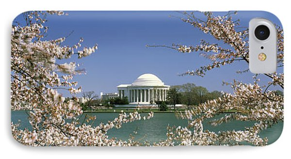 Cherry Blossom With Memorial IPhone Case by Panoramic Images
