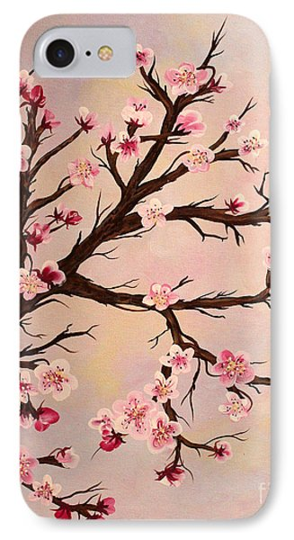 Cherry Blossoms 2 Phone Case by Barbara Griffin