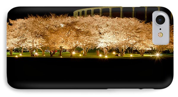 Cherry Blossoms Across The Hocking Phone Case by Shirley Tinkham