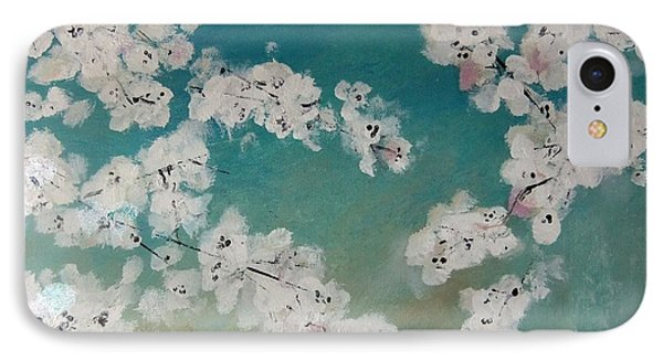 Cherry Blossoms Against Sky Phone Case by Lynne McQueen