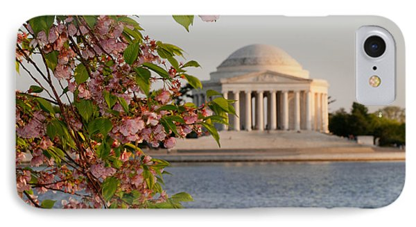 IPhone Case featuring the photograph Cherry Blossoms And The Jefferson Memorial 3 by Mitchell R Grosky