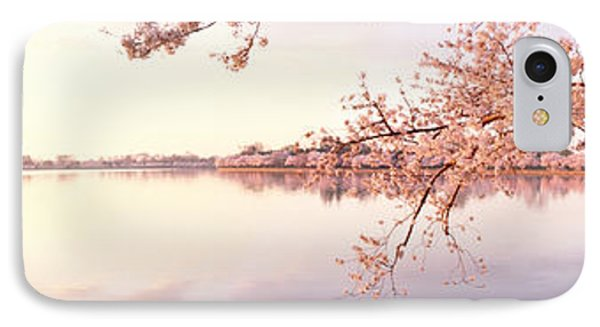 Cherry Blossoms At The Lakeside IPhone Case by Panoramic Images