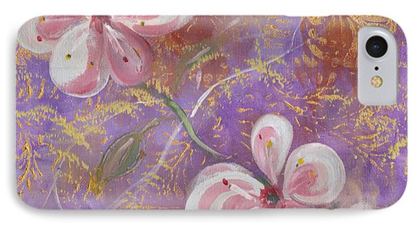 IPhone Case featuring the painting Cherry Blossoms by John Keaton