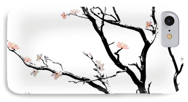 Cherry Blossoms Tree IPhone Case by Gina Dsgn