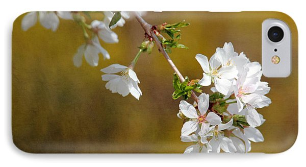 IPhone Case featuring the photograph Cherry Blossoms by Trina  Ansel