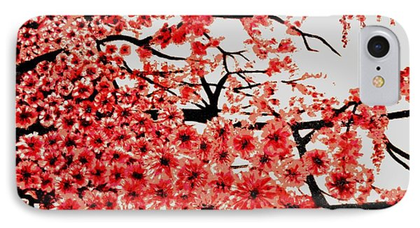 Cherry Blossoms Phone Case by Victoria Rhodehouse