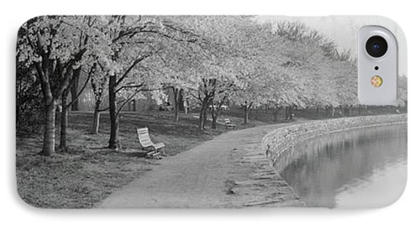 Cherry Blossoms View At Tidal Basin IPhone Case by Fred Schutz Collection