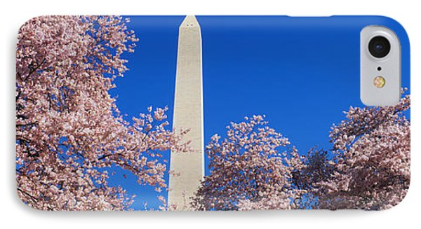 Cherry Blossoms Washington Monument IPhone Case by Panoramic Images