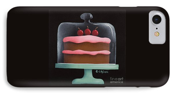 Cherry Chocolate Cake IPhone Case by Catherine Holman