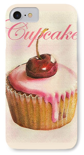 Cherry Cupcake Phone Case by Jane Schnetlage
