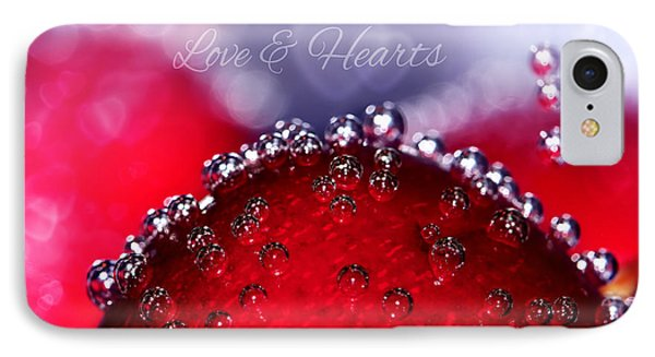 Cherry Fizz Hearts With Love IPhone Case by Tracie Kaska