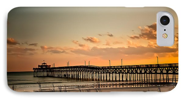 Cherry Grove Pier Myrtle Beach Sc IPhone Case by Trish Tritz
