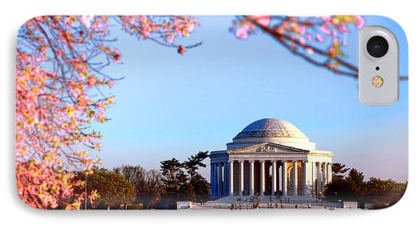 Jefferson Memorial iPhone 7 Case - Cherry Jefferson by Olivier Le Queinec