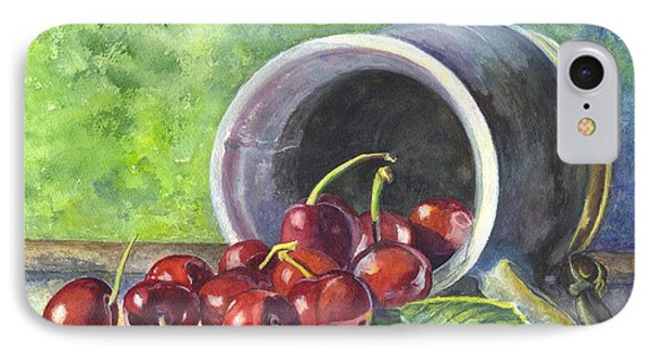 Cherry Pickins IPhone Case by Carol Wisniewski