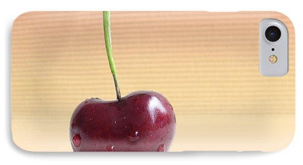 Cherry Portrait Two Phone Case by Arlene Carmel
