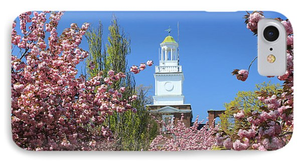 Cherry Trees And Village Hall IPhone Case