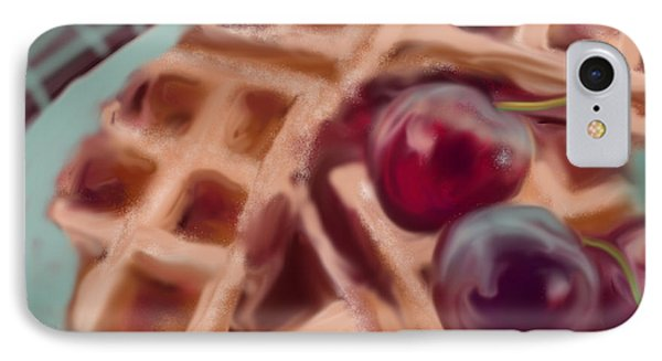 Cherry Waffles IPhone Case by Jean Pacheco Ravinski