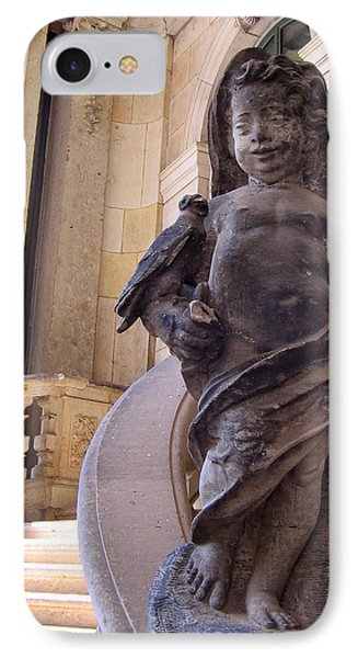 IPhone Case featuring the photograph Cherub At The Entrance Of Zwinger Palace - Dresden Germany by Jordan Blackstone