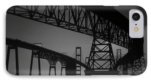 Chesapeake Bay Bridge At Annapolis Phone Case by Skip Willits