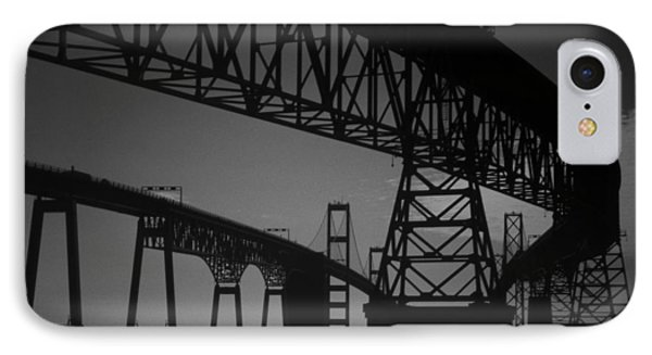 Chesapeake Bay Bridge At Annapolis IPhone Case by Skip Willits