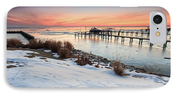 IPhone Case featuring the photograph Chesapeake Bay Freeze by Jennifer Casey
