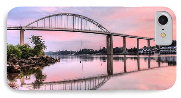 Chesapeake City Pink IPhone Case by JC Findley