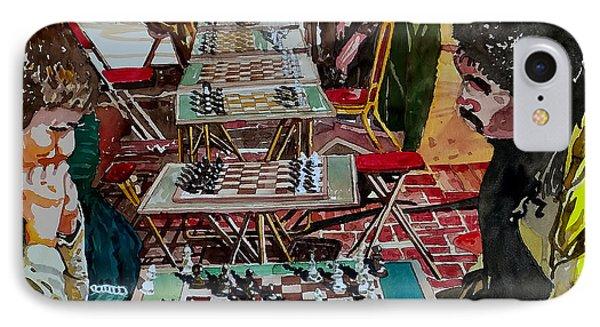 Chess Match On Market Street IPhone Case