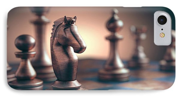 Chess Piece On Chess Board IPhone Case