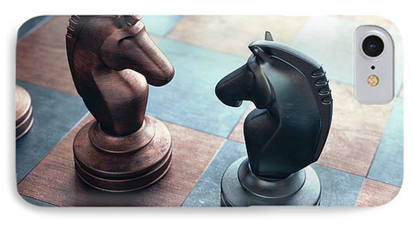 Chess Pieces On A Chess Board IPhone Case