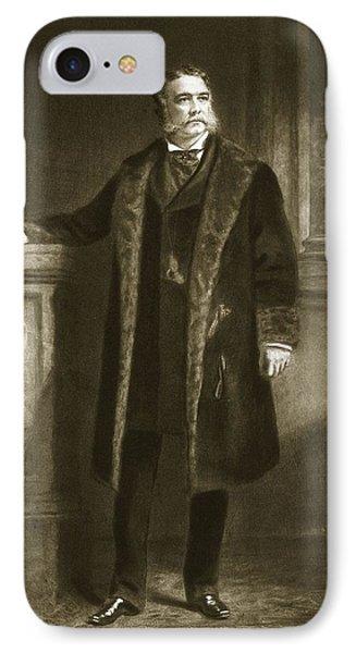 Chester A. Arthur IPhone Case by Daniel Huntington