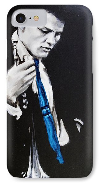 Chet Baker - Almost Blue IPhone Case by Eric Dee