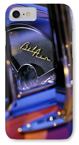 Chevrolet Belair Dash Board Emblem -754c IPhone Case by Jill Reger