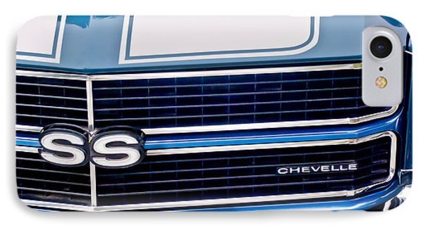 Chevrolet Chevelle Ss Grille Emblem 2 IPhone Case by Jill Reger
