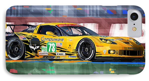Chevrolet Corvette C6r Gte Pro Le Mans 24 2012 IPhone Case by Yuriy  Shevchuk