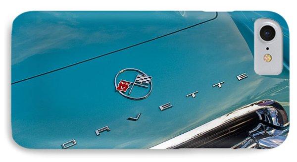 Chevrolet Corvette Hood Emblem 2 Phone Case by Jill Reger