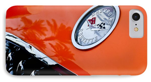 Chevrolet Corvette Hood Emblem Phone Case by Jill Reger