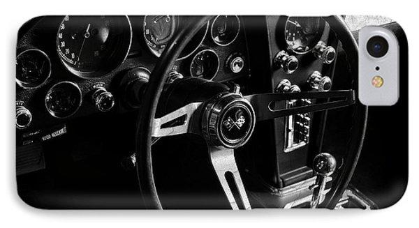 Chevrolet Corvette Sting Ray Interior IPhone Case by Mark Rogan