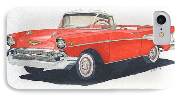 Chevy Bel Air Convertible 57 IPhone Case by Eva Ason