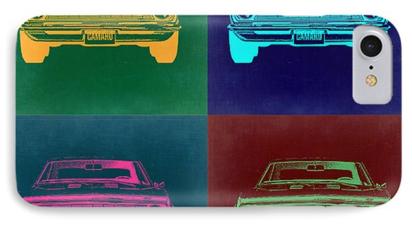 Chevy Camaro Pop Art 2 IPhone Case by Naxart Studio