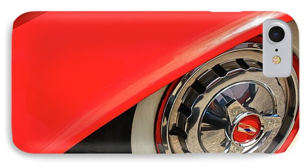 1955 Chevy Rim IPhone Case by Linda Bianic