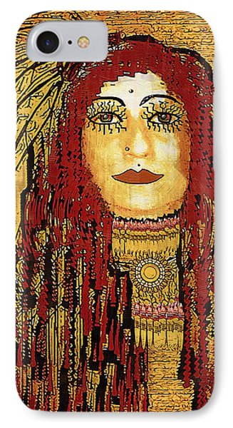 Cheyenne Woman Warrior Phone Case by Pepita Selles