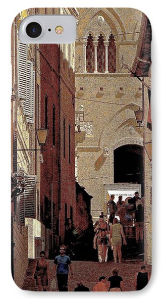 Chiaroscuro Siena  IPhone Case by Ira Shander